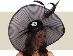 AMELIE FASCINATOR HAT - Black