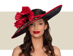 ARIANNA HAT - Black Brown and Red
