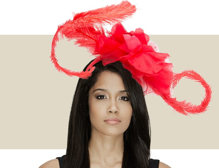 Cordelia Red Fascinator Hat with Giant Silk Flower Detail 2ca82b0d5db