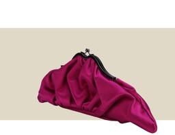 CROISSANT CLUTCH - Dark Pink