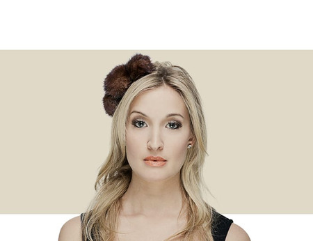 Gina Foster Jones brown winter fascinator hat