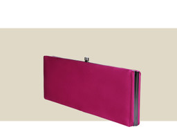 LARGE BOX CLUTCH - Dark Pink