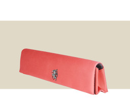 NARROW FOLDING CLUTCH - Coral