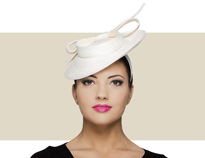 Natalie Ivory Sinamay Disc Fascinator Hat with Bow cdf558c867a