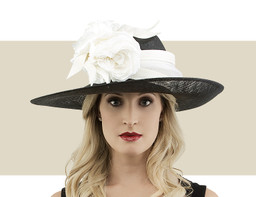 OVAL HEADPIECE - Black with Ivory