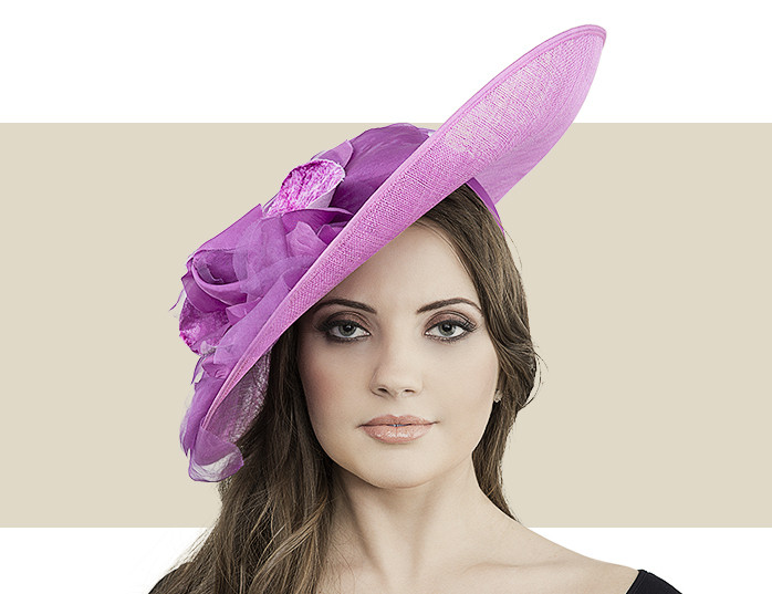 Patti Pansy Fascinator Hat with Soft Flower Detail 0d577778217