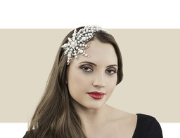 SHOOTING STAR HEADBAND - Pearls with Silver