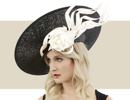 SKULL SLICE HEADPIECE - Black and Ivory