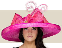 WIDE BRIM HAT - Hot Pink