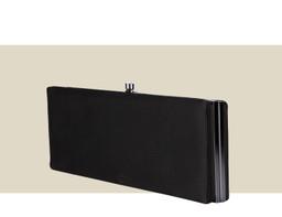 LARGE BOX CLUTCH - Black Satin