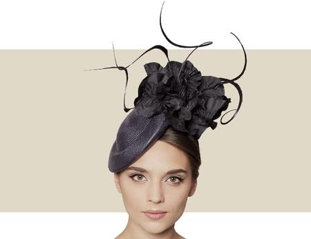 Gina Foster Recco black pinok pok hat for winter
