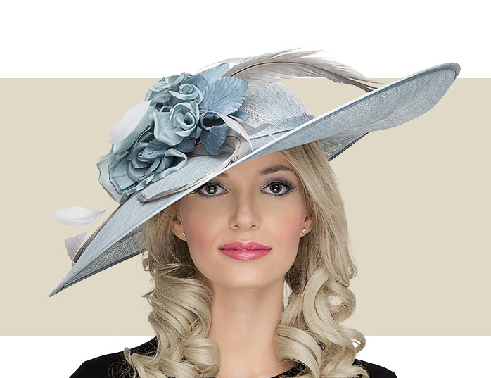 bf519adc Light Blue Lady Diane Seamist Fascinator Hat for Women