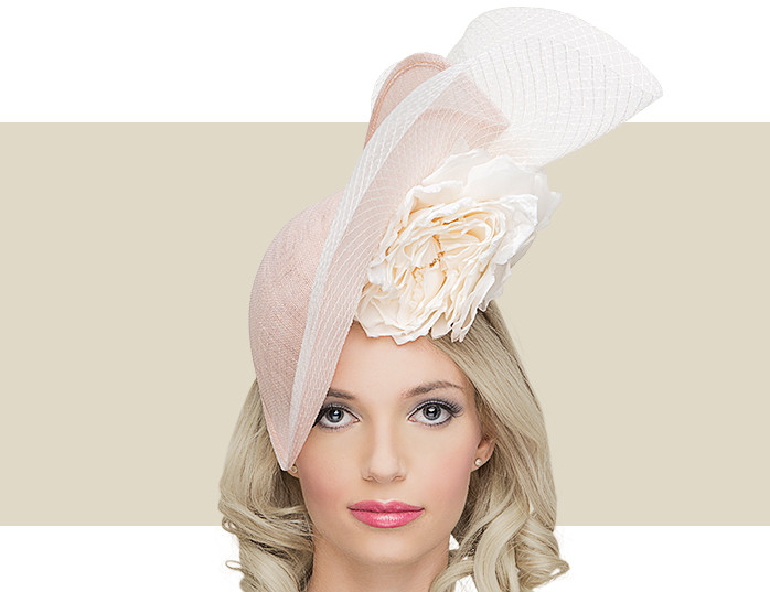 791c6abb9b0 PETAL HAT - Pale Pink with Ivory - Gold Coast Couture