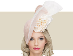 PETAL HAT - Pale Pink with Ivory