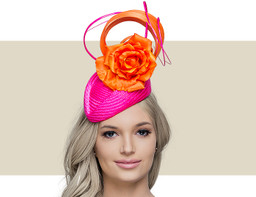 PILLBOX - Hot Pink with Orange