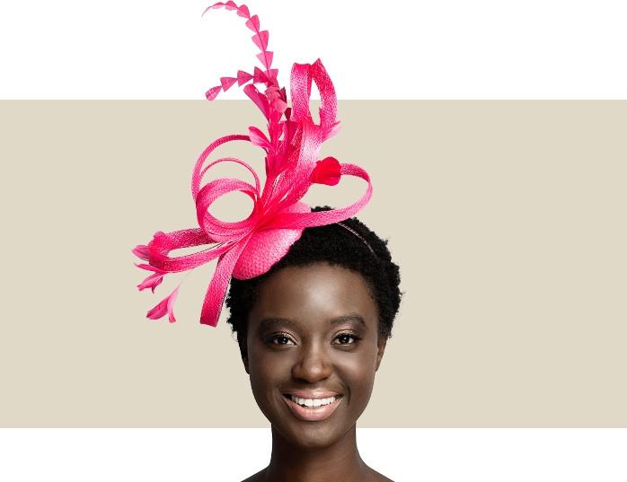 Buy Hot Pink Women's Fascinators - Raspberry Feather Headpieces