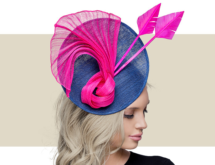 06d87ca4b8b Home · Hats  CHERRY - Navy with Hot Pink. Image 1