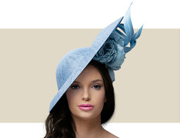 MOULDED SLICE HEADPIECE - Dusky Blue