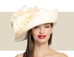 DEEP UPTURN HAT - Ivory