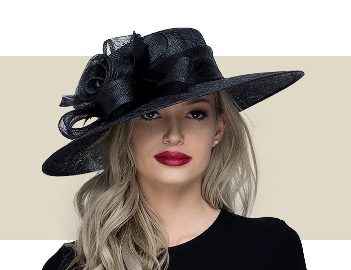 80a6fd00be47 Home · Kentucky Derby Hats; CARMEN - Black. Image 1
