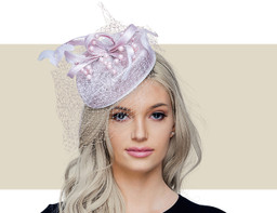 CAMDEN Pillbox Church Hat - Pinkish Purple