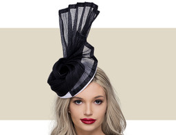 NADINE COCKTAIL HAT  - White and Black