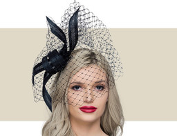 BUNTAL KNOT SWAROVSKI HEADPIECE - Black