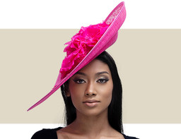LARGE FLOWER LACE DISC - Hot Pink
