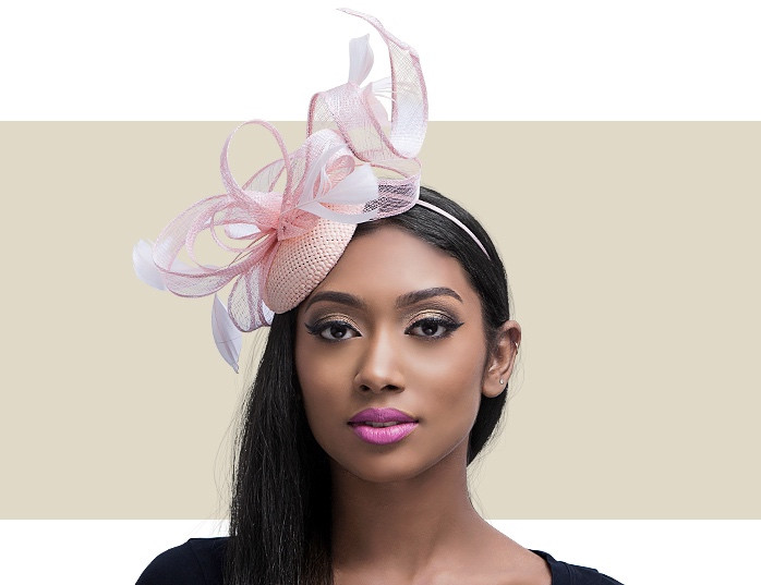 Bessie Light Pink Fascinators - Women s Hats for Special Occasions 965a7809fa8