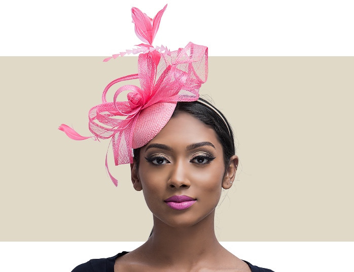 Bessie Coral Pink Fascinator Headpiece for Ladies 4faf33b92e4