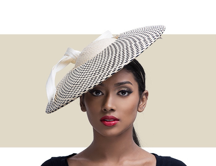 f06628c3496 Home · Kentucky Derby Hats  BIANCA - Natural and Black. Image 1