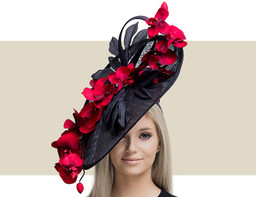 ORCHID DREAMS - Black with Red