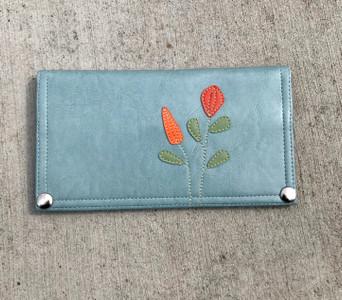 Queen Bee Maximo Wildflower Wallet - Mist Blue