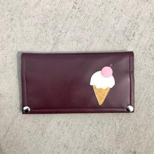 Queen Bee Maximo Ice Cream Wallet - Burgundy