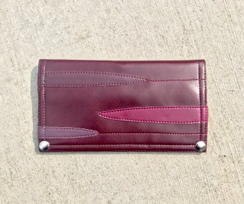 Queen Bee Maximo Puddle Jump  Wallet - Burgundy