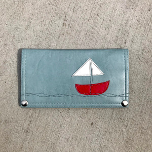 Queen Bee Maximo Sailboat  Wallet - Mist Blue