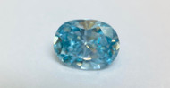 0.23 CARAT SKY BLUE SI1 OVAL NATURAL LOOSE DIAMOND FOR RING 4.23X3.65MM *REAL IS RARE, REAL IS A DIAMOND*