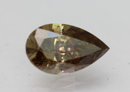 CERTIFIED 1.76 CARAT YELLOW BROWN SI2 PEAR NATURAL LOOSE DIAMOND 10.33X6.27MM  *360 VIDEO & PROFESSIONAL IMAGES