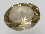 Certified 0.94 Carat Natural Fancy Intense Brownish Yellow VS2 Oval Loose Diamond 6.82x5.17mm 2EX *360 VIDEO & IMAGES