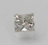 CERTIFIED 0.46 CARAT E COLOR SI1 PRINCESS NATURAL LOOSE DIAMOND FOR RING 4.48X4.17MM  *360 VIDEO & PROFESSIONAL IMAGES