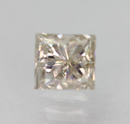 CERTIFIED 0.59 CARAT F COLOR VVS2 PRINCESS NATURAL LOOSE DIAMOND FOR RING 4.25X3.93MM  *360 VIDEO & PROFESSIONAL IMAGES