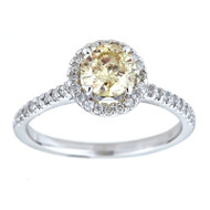 Certified 0.79 Carat H VS2 Round Brillant Halo Diamond Ring 14K W Gold *360 VIDEO & PROFESSIONAL IMAGES INSIDE