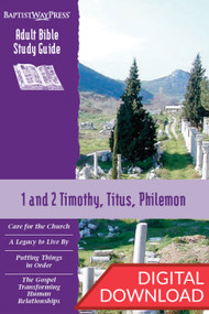 Digital Bible study of 1 and 2 Timothy, Titus, and Philemon. Complete with devotional commentary and reflection questions each of the 13 lessons. PDF; 140 pages.