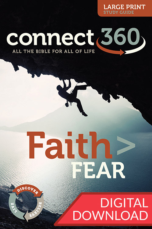 This digital large print Bible study will lead Christ-followers to cast off the shackles of fear and to take hold of their faith. 13 Lessons.