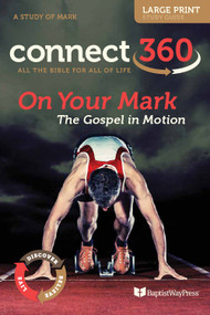 Large Print Bible Study of Mark with devotional commentary and questions. Paperback; 200 pages.