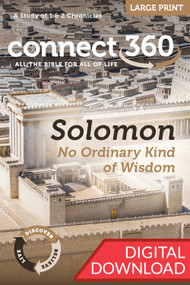 Solomon: No Ordinary Kind of Wisdom (1-2 Chronicles) - Digital Large Print Study Guide