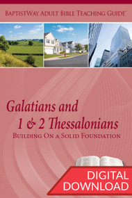 Digital Bible commentary on Galatians and 1 & 2 Thessalonians with 2 sets of teaching plans for each of the 8 lessons on Galatians and 5 lessons on 1 & 2 Thessalonians. PDF; 157 pages.