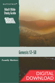Bible study on Genesis focussing on chapters 12-50 that are about Abraham's family, but we will find that they are also about our families. 13 lessons; digital PDF; 158 pages.