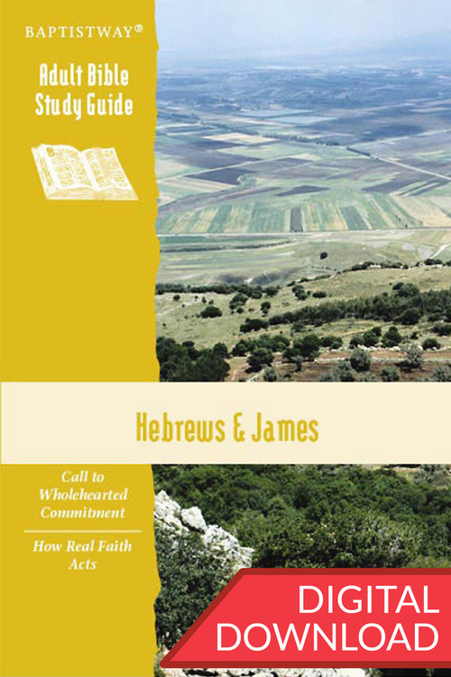 Digital Bible study of Hebrews (7 lessons) and James (6 lessons) with devotional commentary and reflection questions. PDF; 142 pages.
