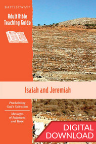 Digital teaching guide on Isaiah (7 lessons) and Jeremiah (6 lessons) with commentary and teaching plans to lead a class. PDF; 150 pages.